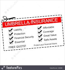 Umbrella Insurance Quote Illustration Of Umbrella Insurance Coupon Concept 23