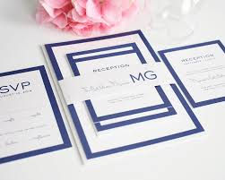 modern wedding invitations in blue with monogram wedding invitations White And Blue Wedding Invitations modern wedding invitations royal blue and white wedding invitations