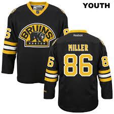 86 Stitched Nhl Jersey Black Kevan Bruins Boston Youth Alternate No Authentic Miller Reebok