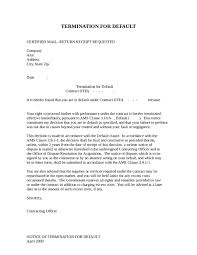 Business Termination Letter Sample Simple Investment Contract