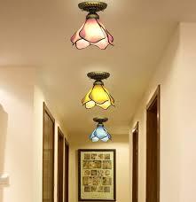 vintage ceiling lighting. Kiven Semi-Flush Mount Ceiling Light,Tiffany \u0026 Vintage Combination For Hallway Study Room Office Bedroom Decoration ,Blue Lighting