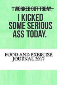 Food And Exercise Journal 2017 Weekly Food And Exercise Journal
