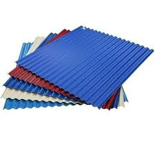 rectangle blue red white corrugated roofing sheet