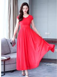 New Dress Design Pic Us 30 3 20 Off 2019 New Design Girls Casual Chiffon Slim Dresses Womens Fashion Summer Holiday Beach Soft Dress Elegant Vestidos Size Xl A267 In
