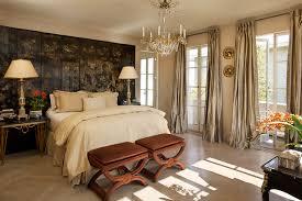 Bedroom - traditional master light wood floor bedroom idea in San Francisco  with beige walls