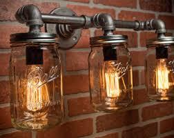 steampunk lighting. beautiful lighting farmhouse lighting  mason jar light steampunk bar  industrial for