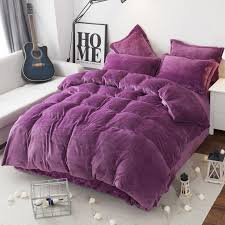 modern style soft fay velvet duvet cover set bed sheet pillowcase king size super soft bedding sets jaju036 black toile bedding comforter bedding sets from