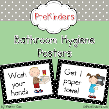 Preschool bathroom signs Child Friendly This Is Set Of Bathroom Hygiene Posters That Will Help Your Students Learn And Remember To Practice Good Hygiene This Set Has Cute Kid Graphics From Preschoolspot Education Teaching Prek Preschool Bathroom Hygiene Posters Preschoolspot Education Teaching Pre