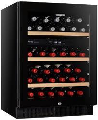 Wine Bottle Storage Angle Vintec V40sg2ebk 50 Bottles Two Zone Wine Storage Cabinet