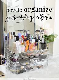 way to organize your makeup collection | oliveandivyblog.