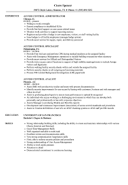 Work Resume Examples With Work History Access Control Resume Samples Velvet Jobs 51