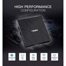 Android tivi box mới T95H android 10 có ram 4g rom 32g cài sẵn các ứng dụng  giải trí miễn phí có bàn phím mini