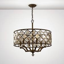 diyas il31696 in pendant 6 light e14 round mocha teak plated crystal