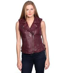 womens leather vest motorcycle vests canada womens leather vest