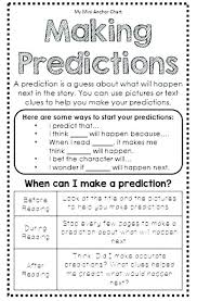 My Mini Anchor Chart Prediction Worksheets Second Grade Prediction Worksheets For