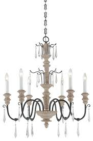 this exquisite chandelier has the timeless beauty of a french antique updated with a warm wood