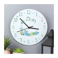 children s personalised clock train
