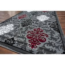 dazzling red and gray area rugs 13 91cgjsnftdl sl1500