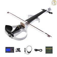 HKBH ammoon VE-209 Full Size 4/4 Solid Wood Silent Electric ...