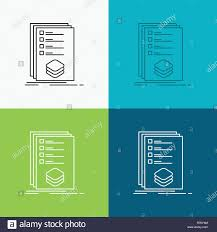 Design Check Categories Categories Check List Listing Mark Icon Over Various