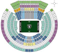 Oakland Raiders Seating Chart View Nfl Stadium Seating Charts Stadiums Of Pro Football