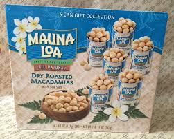 dry roasted mauna loa macadamia nuts gift set 6 cans per box
