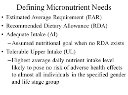 2 defining micronutrient needs