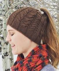 Ponytail Hat Knitting Pattern Impressive Free Knitting Pattern For Ponytail Holey Hat This Easy Ponytail