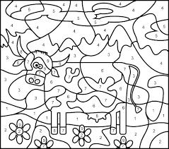 Free Color By Number Sheets Coloring Worksheet For Kindergarten Free