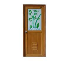 p v c glass door bamboo