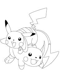 Pokemon Paradijs Kleurplaat Pikachu En Raichu