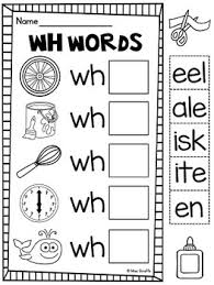 © contributed by leanne guenther. Wh Worksheets Activities No Prep Consonant Digraph Worksheets