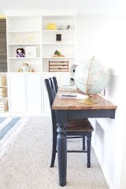 repurposed kitchen table turned desks blesserhouse com how to use a repurposed kitchen