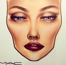 mac face chart makeup charts autumn look
