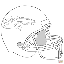 Coloring Pages Denver Broncos Helmet Coloring Page Pagestball