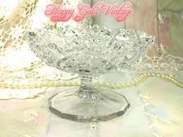 mercury glass footed bowl uk