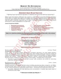 Sample Resume For Electrician Fascinating Journeyman Electrician Resume New Sample Resumes For Electricians