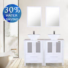 modern white bathroom cabinets.  Modern 48 Inch White Bathroom Cabinet Modern Vanity Vessel Sink W Faucet Mirror  Combo Throughout Cabinets T