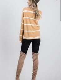 Darcy dye stripe pullover top preorder - BlushN'Grey Boutique