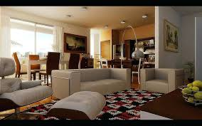 open living room setup this checd area rug defines the living space in this small open