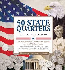 State Quarter Value Chart Amazon Com 50 State Commemorative Quarters Collectors Map