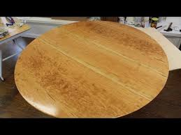 make a round table top out of solid cherry wood