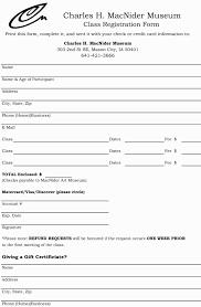 013 Sunday School Registration Form Template Word Free Printable