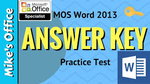 office test. (MOS Exam) Word 2013 Practice Test. Mike\u0027s Office Test I