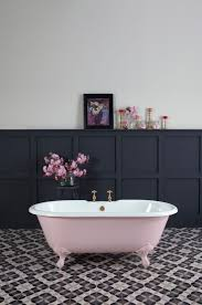 Loved styling this 'petite millbrooke' pink bath painted in Mylands limited  edition 'Blush