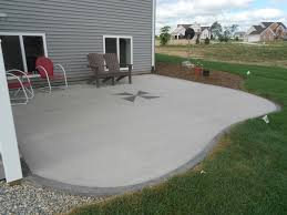 simple stamped concrete patio designs