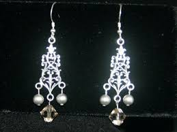 gold heart chandelier earrings gold filigree chandelier earrings from in sterling silver large ornate lightweight