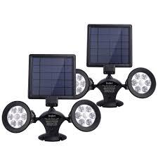 Powerful Solar Flood Lights Brizled Solar Spotlights Solar Lights Motion Sensor 12 Led Outdoor Security Flood Light Dual Head 360 Degree Rotatable Ip65 Fully Weather Resistant