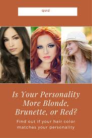The Color Of Your Hair Says