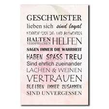 Geschwister Schwester Deko Schild Wandschild